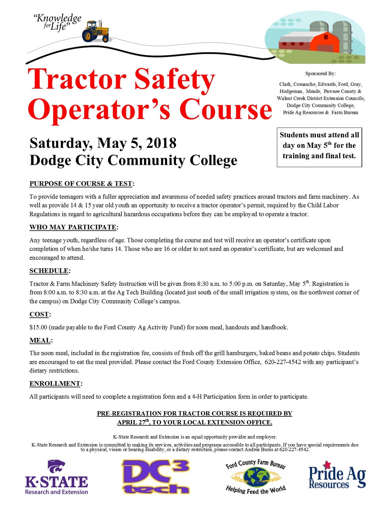 tractor safety flyer