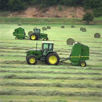 tractor and balers