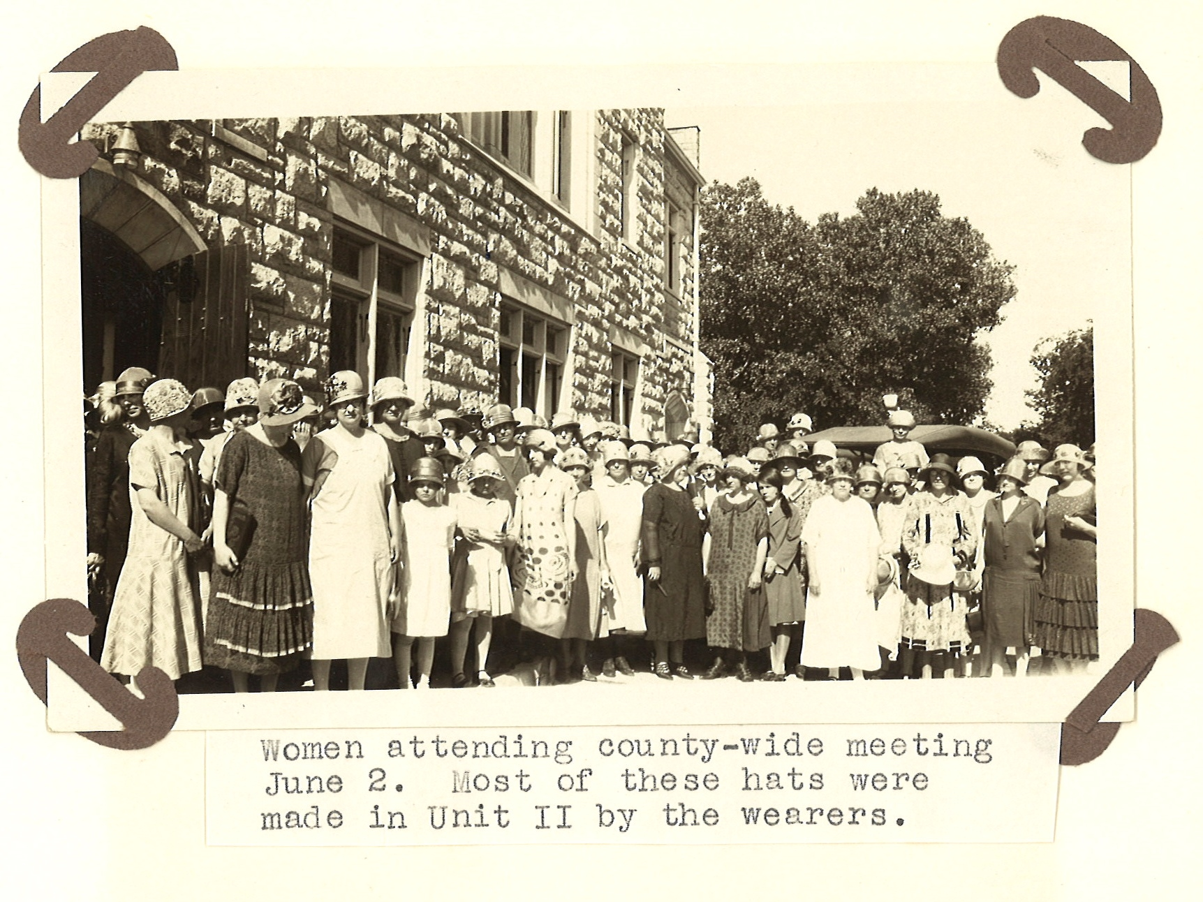 1926 photo of Farm Bureau Women's Unit