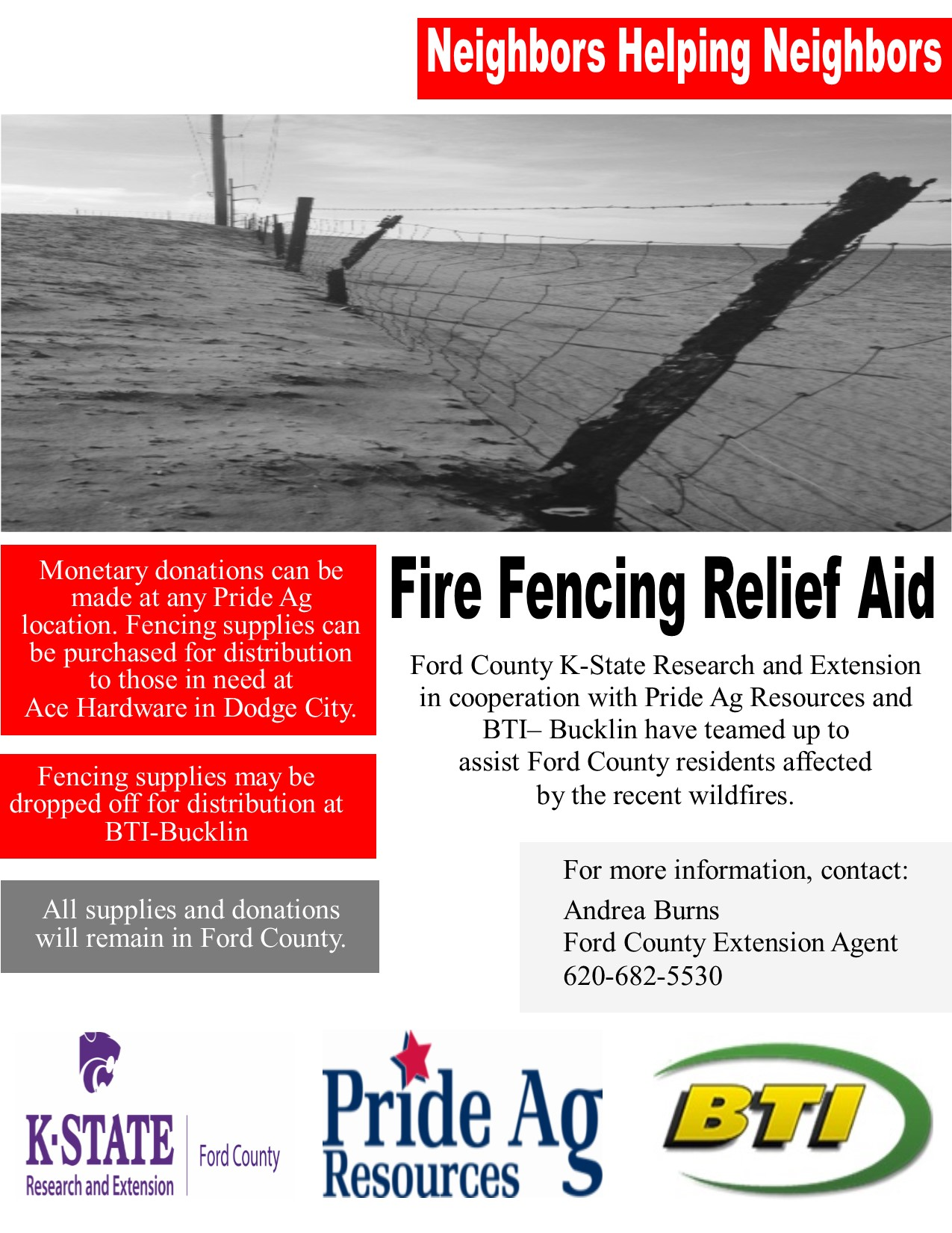 flyer for fire relief